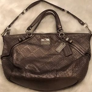 Beautiful pewter gray Coach bag